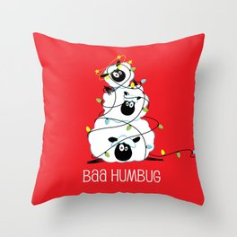 Baa Humbug Throw Pillow