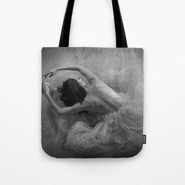 In the Moment...ballerina posing. Tote Bag