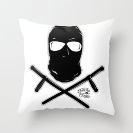 Ski Mask and Night Sticks Throw Pillow