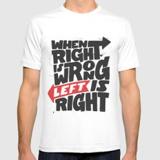 Directions and politics Mens Fitted Tee White SMALL