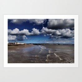 Bridlington Coastline Art Print