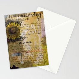 sunflower collage Stationery Cards