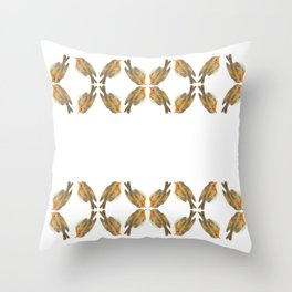 Pisco - Robin bird illustration pattern Throw Pillow