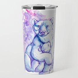 Polar Bear and Cub Travel Mug