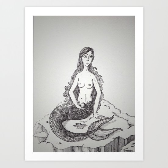 My-thology, the Mermaid Art Print