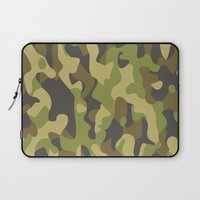 military Laptop Sleeves featuring Military Pattern by Crazy Thoom