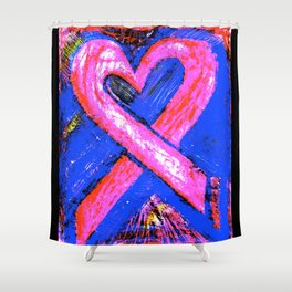 Super-Ribbon!! A Pink Ribbon for Breast Cancer Research by Jeffrey G. Rosenberg Shower Curtain