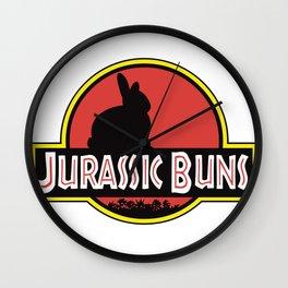 JURASSIC BUNS Wall Clock