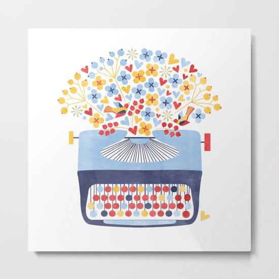 Poetry Typewriter Metal Print