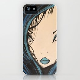 My Mermaid. Original Painting by Jodilynpaintings. Figurative Abstract Pop Art. iPhone Case