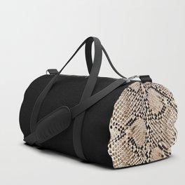 Snake skin art print Duffle Bag