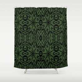 Forest Green Etch Shower Curtain