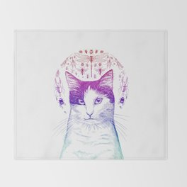 Of cats and insects Throw Blanket