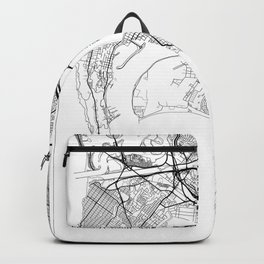 San Diego Map White Backpack