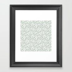 Green Cranes Framed Art Print