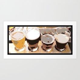 Beer | Man Cave | Beer Flight Sampler | Nadia Bonello Art Print