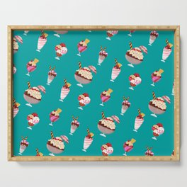 Ice cream pattern design Serving Tray