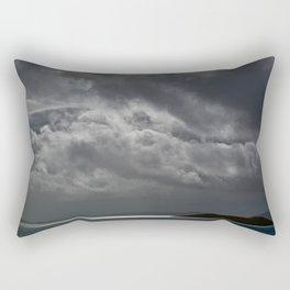 Cloudy island Rectangular Pillow