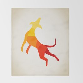 Abstract dog Throw Blanket
