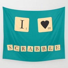 I heart Scrabble Wall Tapestry