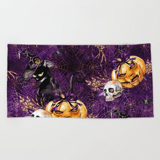 Halloween Witch #3 Beach Towel