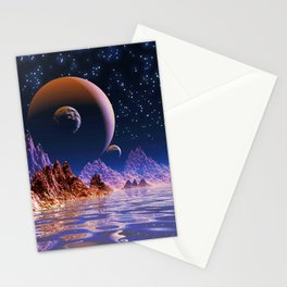 Triple Moonset Stationery Cards
