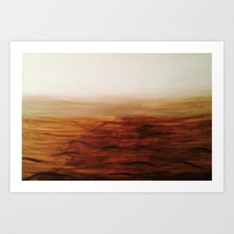 Desert Waves Art Print