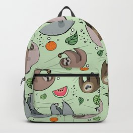 Sloth Party Backpack