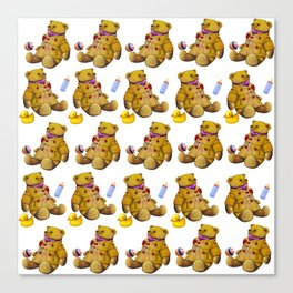 Bears with rubberduck ...... Canvas Print