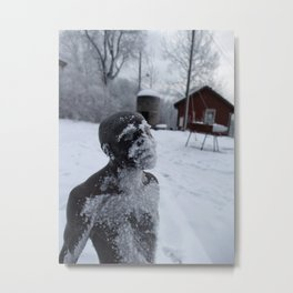 Sunbathing is Stockholm Metal Print