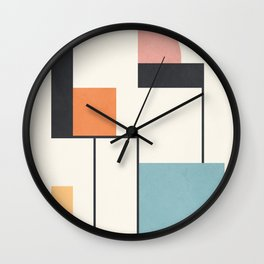Clean Flow Geometry 5 Wall Clock