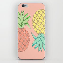 pineapple large coral iPhone Skin