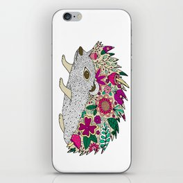 Woodland Hedgehog Illustration iPhone Skin