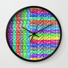 Pixelated colors Wall Clock