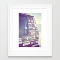 van Framed Art Prints featuring Van by Fiona Fergusson