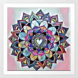 From the heart Mandala Art Print