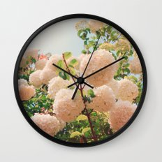 Puffy flowers! Wall Clock