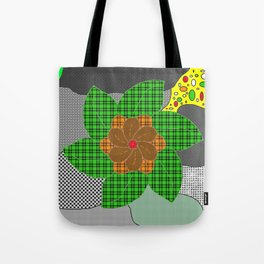 pattern with flower Tote Bag