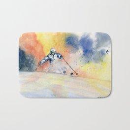 Colorful Skiing Art 2 Bath Mat