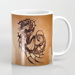 """Tsunami"" by Amber Marine ~ Sea Dragon (Amber Gem Version) ~ Graphite Illustration, (Copyright 2005) Coffee Mug"