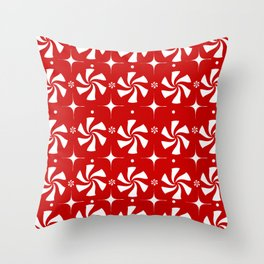 Red Peppermint Candy Throw Pillow