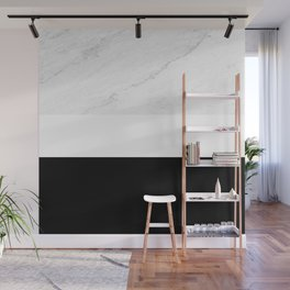 Marble Black White Wall Mural