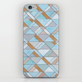 Shifting Pattern Turquoise and Gold iPhone Skin