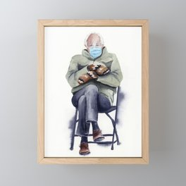 Bernie Sanders Mittens Painting Framed Mini Art Print