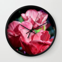 Pink Pyramid Wall Clock