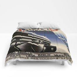 Vintage poster - Nord Express Comforters