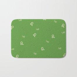 Leo Pattern - Green Bath Mat