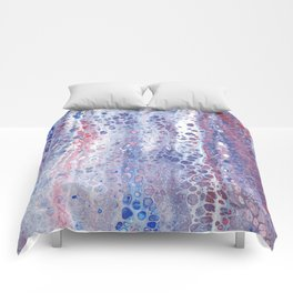 Red White and Bubbles Comforters