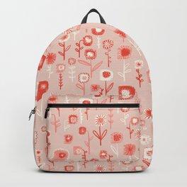 Pink Ditsy Flower Garden Backpack