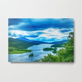 Queens View Loch Tummel Metal Print